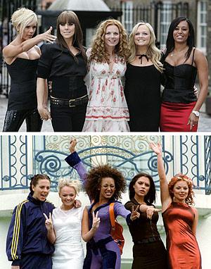 El antes y el después de las componentes del grupo. (Foto: AP)