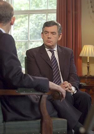 Gordon Brown en la entrevista de la BBC. (Foto: REUTERS)