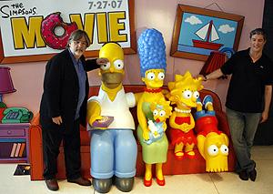 Matt Groening y Al Jean en Madrid. (Foto: EFE)