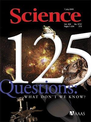Portada del número del 125 aniversario de Science'.
