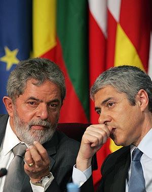 Lula y Sócrates, en la cumbre. (Foto: AP)