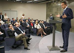 Zapatero, durante la rueda de prensa. (Foto: EFE)