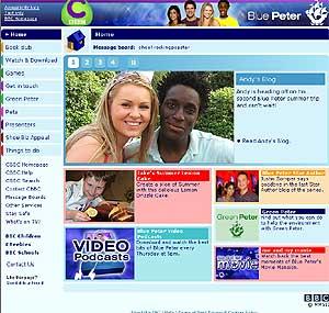 Sitio en Internet de 'Blue Peter'