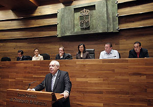 Areces en el primer discurso de su tercera legislatura. (Foto: EFE)