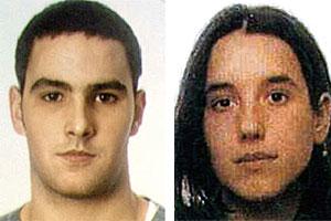 El detenido, Aritz Arginzoniz Zubiaure, y su novia, a la que se busca, Saioa Sánchez Iturregui. (Foto: Ertzaintza)