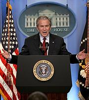 Bush, en rueda de prensa. (Foto: EFE)