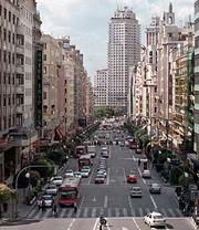 La calle Gran Vía.