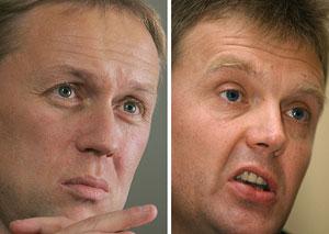 Logovói (izda.) y Litvinenko. (Foto: AFP)