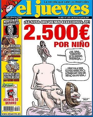 La polémica portada de 'El Jueves'.