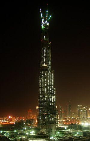 La fotografía muestra el estado actual de la torre, a fecha 21 de julio de 2007. (Foto: AFP)