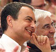 Zapatero, junto al presidente de Castilla-La Mancha, Barreda. (Foto: EFE)