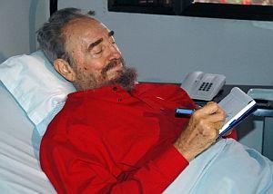 Castro, en una de sus apariciones desde el hospital. (Foto: AFP)