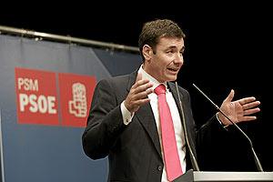Tomás Gómez durante la presentación de su candidatura a la Secretaría del PSM. (elmundo.es)