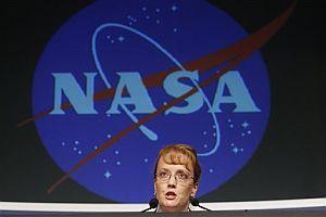 La directiva de la NASA Shana Dale, durante su comparecencia. (Foto: AP)