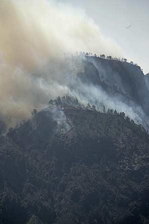 Imagen del incendio de Gran Canaria. (Foto: EFE)