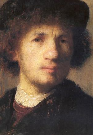 Autorretrato de Rembrandt del Museo Nacional de Estocolmo, Suecia.