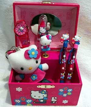 Algunos de los productos de la firma 'Hello Kitty'. (Foto: Chema Tejeda)