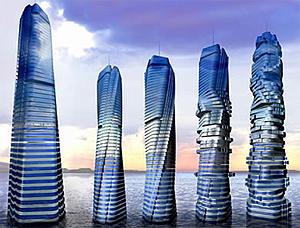 Los edificios giratorios de Fisher. (Foto: Moveyourmind.es)