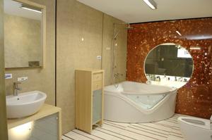 Detalle de uno de los baños del prototipo. (Foto: Luis de Garrido)
