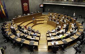 El Parlamento de Navarra, durante la sesión del debate de investidura. (Foto: EFE)