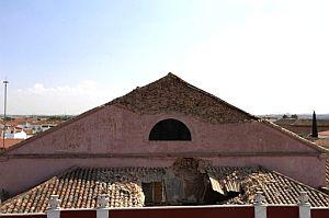 Estado del Teatro Municipal de Almagro tras el seísmo. (Foto: EFE)