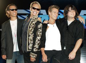 Alex Van Halen, David Lee Roth, Eddie y Wolfgang Van Halen (de izda. a dcha.). (Foto: AP)