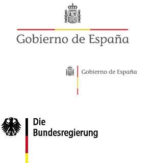 Montaje con los logos de España y Alemania.
