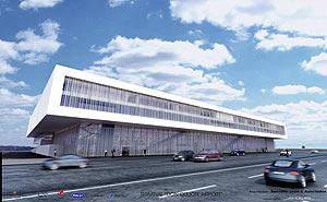 Imagen virtual de la futura terminal de pasajeros.
