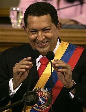 Hugo Chávez, durante su comparecencia. (Foto: EFE)