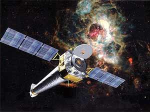 Reproducción artística del satélite Chandra (NASA)