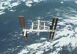 Imagen de la ISS desde el 'Endeavour', cuando éste la abandona (NASA)