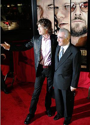 Scorsese junto al líder de los Rolling Stones, Mick Lagger. (Foto: AFP)