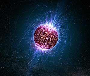 Reconstrucción artística de una estrella de neutrones (Foto: NASA)