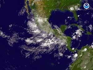 Imagen de satélite en la que se aprecia que 'Dean' se ha disipado. (Foto: AFP)