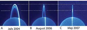 Tres fotografías de los anillos de Urano (NASA)