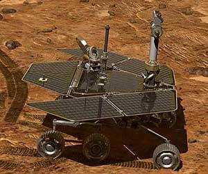 Ilustración del vehículo 'Spirit' sobre la superficie de Marte (NASA)
