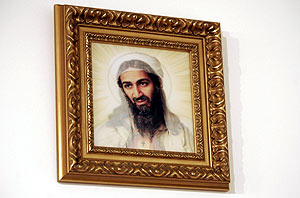 Lienzo de un Jesucristo parecido a Bin Laden. (Foto: REUTERS)