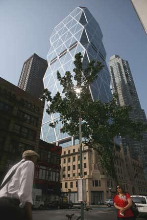 Vista de la Octava Avenida donde se sitúa la torre Hearst. (Foto: AFP) [VER ÁLBUM]
