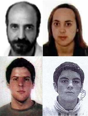 Luis Ignacio Iruretagoyena, Alaitz Aramendi, Oihan Barandalla y Ander Múgica, detenidos en la operación del pasado sábado. (Fotos: Ministerio del Interior)