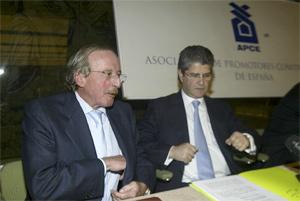Rafael Santamaría y Fernando Martín, dueños de Reyal Urbis y Fadesa-Martinsa. (FOTO: J. JAEN)