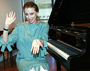Maya Plisetskaya, en el Teatro Real. (Foto: EFE)