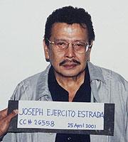 Foto policial de Joseph Estrada. (Foto: AP)