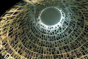 Techo de la cúpula del Salón de los Nombres del Museo del Holocausto en Jerusalén. (Foto: EFE)