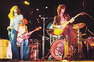 Actuación del antiguo grupo de rock Led Zeppelin. (Foto: REUTERS )