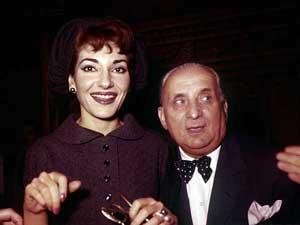 María Callas junto a su marido Giovanni Battista Meneghini en una imagen de 1958. (Foto: AP)