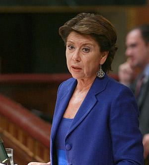 La ministra de Fomento, Magdalena Álvarez. (EFE)