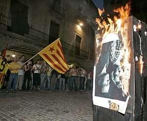 Un momento de la protesta. (Foto: EFE)