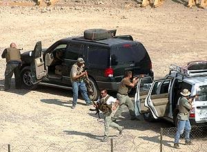 Agentes de Blackwater, durante unas prácticas en 2004 en Bagdad. (Foto: AFP)