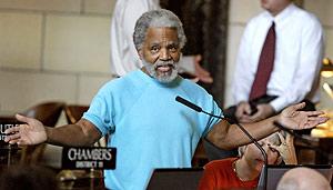 El senador Chambers, durante un debate parlamentario. (Foto: AP)