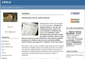 Directo y sin censuras, 'Léolo' es el blog del titular de Vivienda del Gobierno Vasco.